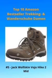 Top 10 AMZ - 5 Damen Jack Wolfskin Vojo Hike 2 Mid - Trekkingstiefel