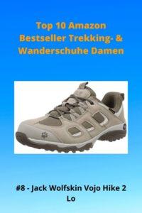 Top 10 AMZ - 8 Damen Jack Wolfskin Vojo Hike 2 Low - leichte Wanderhalbschuhe