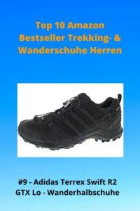 Top 10 Amazon 9 Bestseller Trekking- & Wanderschuhe Herren - 9 Adidas Terrex Swift R2 GTX Halb